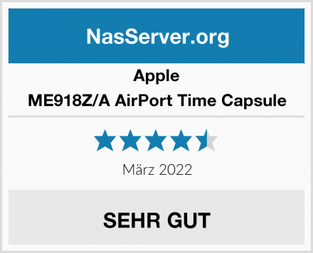 Apple ME918Z/A AirPort Time Capsule Test