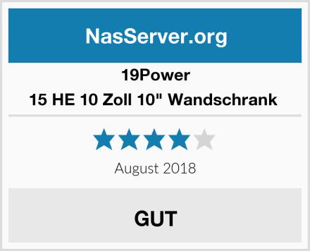 """19Power 15 HE 10 Zoll 10"""" Wandschrank  Test"""