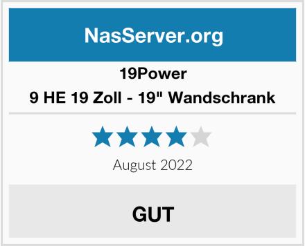 """19Power 9 HE 19 Zoll - 19"""" Wandschrank Test"""