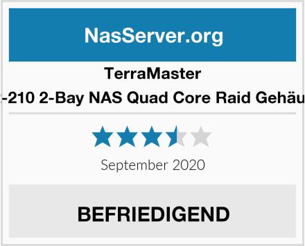 TerraMaster F2-210 2-Bay NAS Quad Core Raid Gehäuse Test
